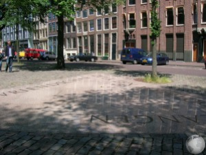 HomoMonument-Past (points towards Anne Frank house)_2780638860096713974
